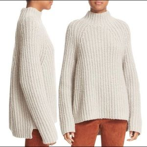 Theory Small Rifonia Beige Turtleneck Sweater
